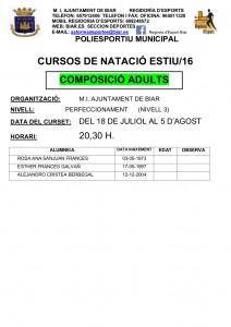 WEB 2º TORN DEL 18 DE JULIOL AL 5 AGOST - ADULTS - 20.30 H.