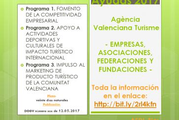 Ajudes de l'Agència Valenciana Turisme 2017