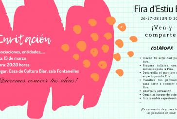 Invitación ¡Colabora en la Fira d'Estiu Biar!