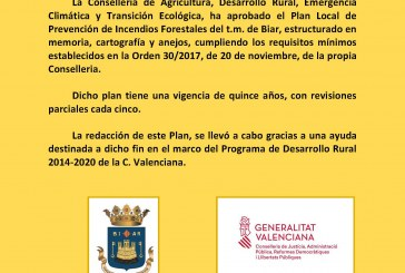 Plan local de prevención de incendios forestales