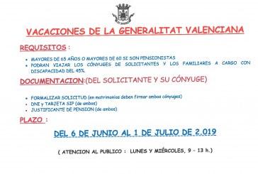 Vacances de la Generalitat Valenciana per als més majors