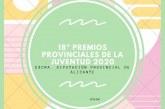 18º premios provincials del joventut 2020, Diputació Alacant